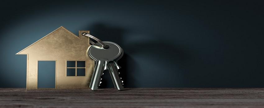 3d Objekt Haus mit Schlüssel, geschenk zum einzug ins neue Haus